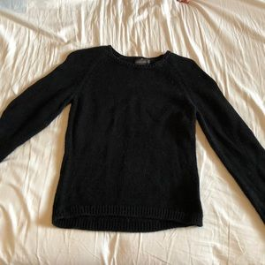 Knit black sweater